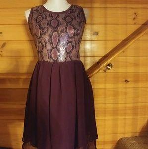 UMGEE Jr. Purple Sleeveless Sequin Dress Size S